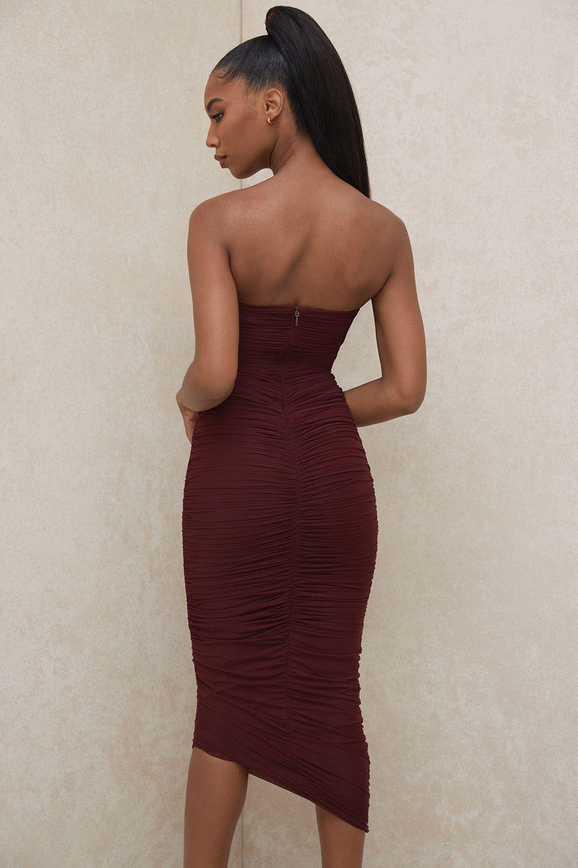 Rust women wrapped dress